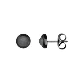 IJO46-05 Ear Stud Matt Black
