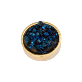Top part drusy dark blue gold