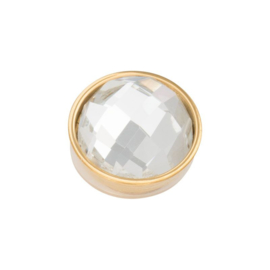 Top part facet crystal gold