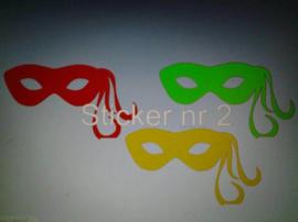 Raamsticker Masker 2 (Set 3)