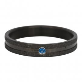R3602-5 Sandblasted Blauw Zwart 4mm