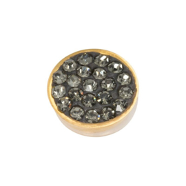 Top part black diamond stones goud