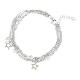 IJBA16-03 Armband Ball-Star Zilver