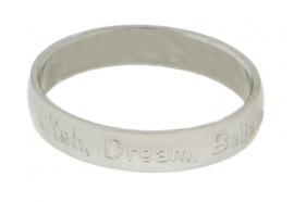 R2108-3 Wish Dream Believe Zilver 4mm