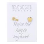 IJKO01-1 Key Heart Goud