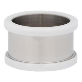 R7801-03 Basisring Keramiek Zilver-Wit 10mm