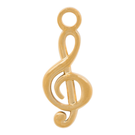 C42601-01 Charm Muzieksleutel Goud