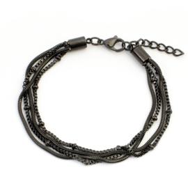 Armbandje Snake/Knot Black