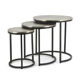 Coffeetable set Trapeze - round