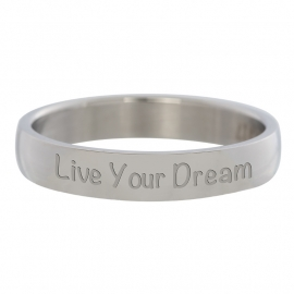 R2109-3 Live Your Dream Zilver 4mm