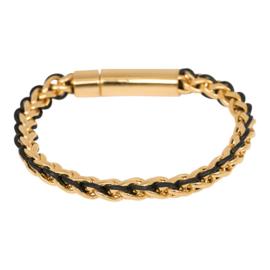 IBR55-01 Armband Goud-Zwart
