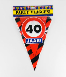Party Vlag 40jr