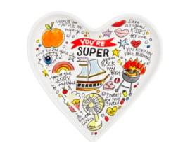 Heart Plate 22cm Love