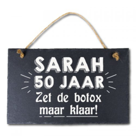 Leisteen bord Sarah