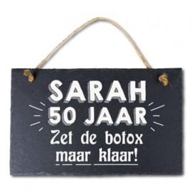 Leisteen bord Sarah