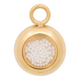 C42201-01 Charm White Balls Goud