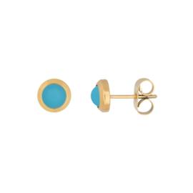 IJO44-1 Ear Stud Matt Aqua Goud