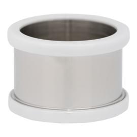 R7802-03 Basisring Keramiek Zilver-Wit 12mm