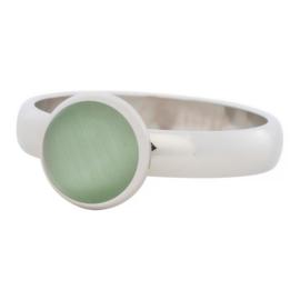 R4307-3 Green Catye Zilver 4mm