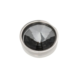 Top part pyramid black diamond silver