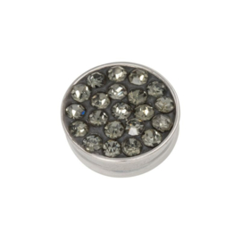Top part black diamond stones silver