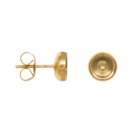 Ear studs top part base Gold