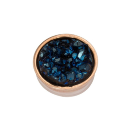 Top part drusy dark blue rose