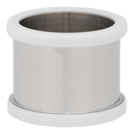 R7803-03 Basisring Keramiek Zilver-Wit 14mm