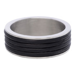 IXXXI Steel Ring R05 Mat Staal