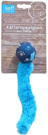 Lief! Bal met staart blauw