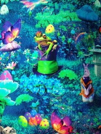Showgordijntjes Alice in Wonderland