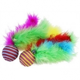 Happy pet Carnaval ballen met veren