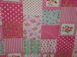 Bekleding patchwork roze