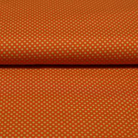 showgordijnen oranje groene stippen