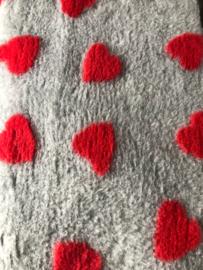 Vetbed grijs met harten
