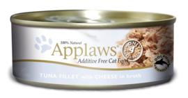 Applaws blik Tonijn met kaas 156 gram 24 stuksv