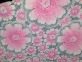 Bekleding bloemen roze