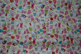 showgordijntjes Hello Kitty geel