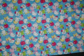 showgordijntjes Hello Kitty blauw