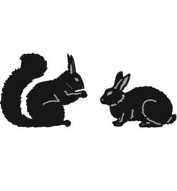 tiny's animals squirrel & rabbit cr1340