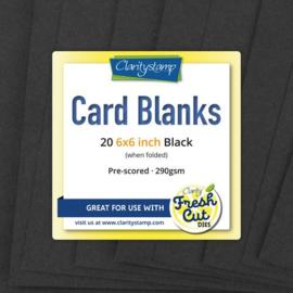 "20 stuks 6x6"" black"