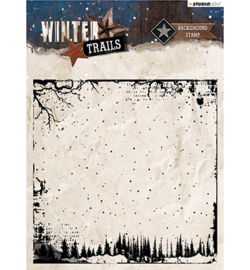 winter trails background stempel nr. 304