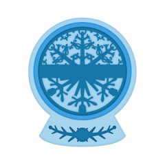 festive snow globe die