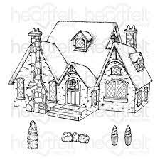 countryside cottage cling stamp