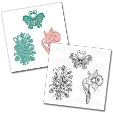 butterfly cling stamp set