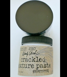 crackled texture paste wit