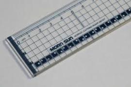 snijliniaal transparant 30 cm. met metalen rand