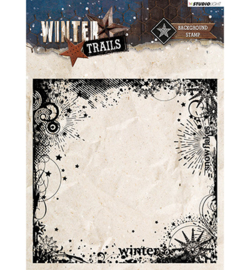background stempel winter trails uit de winter kerstcollecte nr. 305