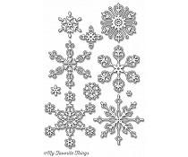 stylish snowflakes