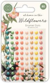 adhesive enamel dots at home in the wildflowers